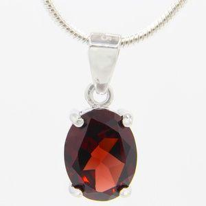 Jewelry - Sterling Silver Genuine Red Garnet Necklace